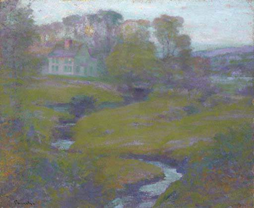Order Reproductions | Lingering Rain, Moon And Eventide by Robert William Vonnoh (1858-1933) | WahooArt.com