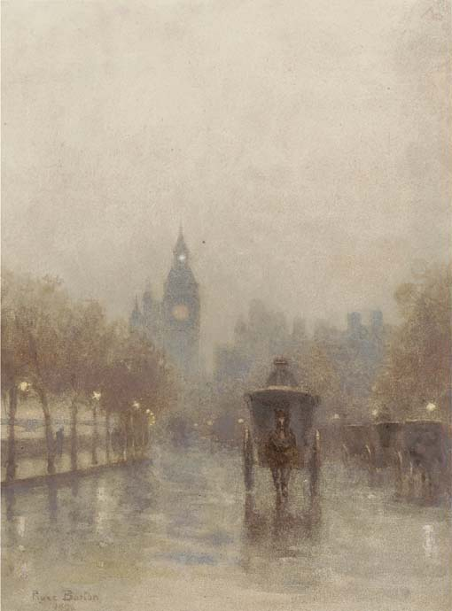 Big Ben by Rose Maynard Barton (1856-1930, Ireland)
