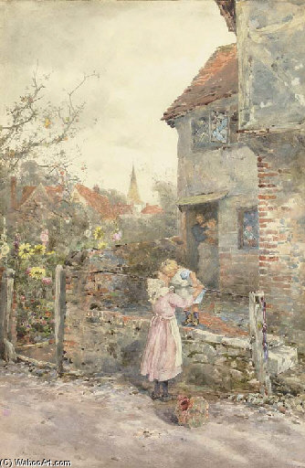 The Welcome by Rose Maynard Barton (1856-1930, Ireland) | Museum Quality Reproductions | WahooArt.com