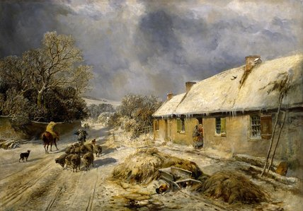 Burns's Cottage, Alloway by Samuel Bough (1822-1878, United Kingdom)