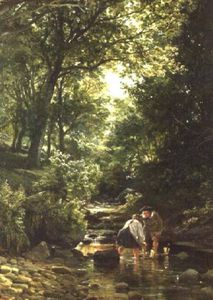 Samuel Bough - Children In The Stream -