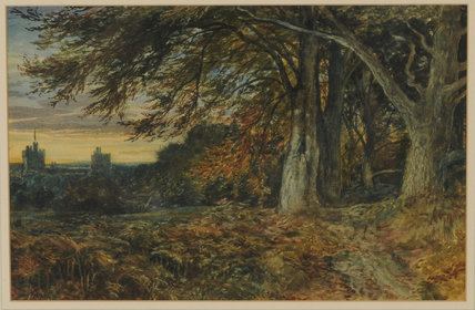Naworth Castle by Samuel Bough (1822-1878, United Kingdom)