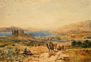 Order Poster On Canvas Tiberias On The Sea Of Galilee by Samuel Bough (1822-1878, United Kingdom) | WahooArt.com | Order Fine Art Print Tiberias On The Sea Of Galilee by Samuel Bough (1822-1878, United Kingdom) | WahooArt.com