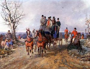 Samuel Henry Gordon Alken - A Coach And Four On The Open Road
