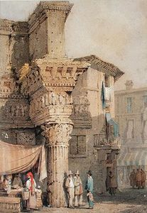 Samuel Prout - Temple Of Pallas, Forum Of Nerva, Rome