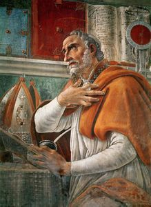 Sandro Botticelli - St. Augustine In His Cell -