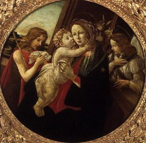 Sandro Botticelli - The Madonna And Child With The Infant St. John The Baptist