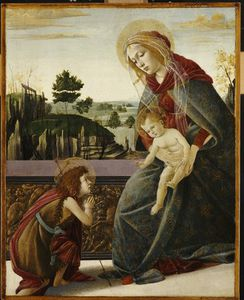 Sandro Botticelli - The Madonna And Child With The Young St. John The Baptish