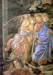 Sandro Botticelli - The Purification Of The Leper And The Temptation Of Christ -