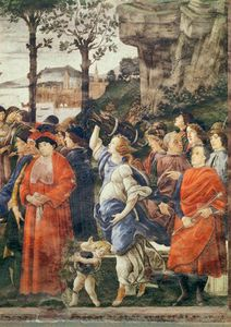 Sandro Botticelli - The Purification Of The Leper And The Temptation Of Christ - (9)
