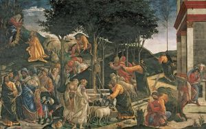 Sandro Botticelli - The Youth Of Moses, In The Sistine Chapel