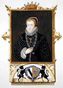 Sarah Countess Of Essex - Portrait Of Frances Sidney Countess Of Sussex From 'memoirs Of The Court Of Queen Elizabe