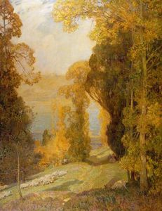 Alfred Edward East - Lake Bourget From Mont Revard