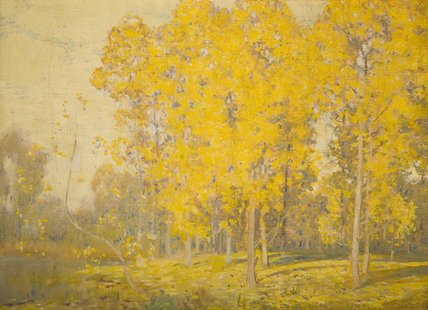 Landscape With Trees by Alfred Edward East (1844-1913, United Kingdom) | Museum Quality Reproductions | WahooArt.com