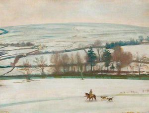 Alfred James Munnings - A Winter Landscape -