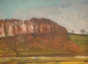 Alfred James Munnings - A Wooded Landscape -
