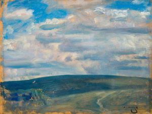 Alfred James Munnings - An Exmoor Landscape -