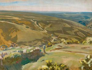 Alfred James Munnings - An Extensive View Of Exmoor -