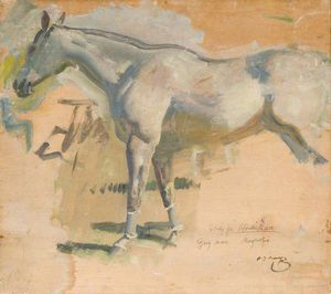 Alfred James Munnings - Study For 'after The Race', The Grey Mare 'magnolia'