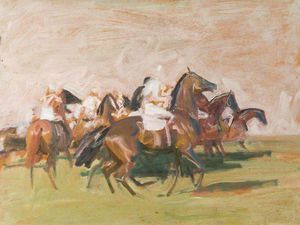 Alfred James Munnings - Study For 'starter's Orders'