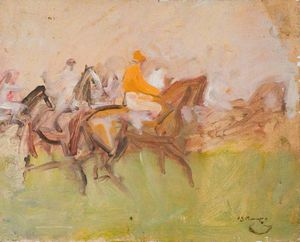 Alfred James Munnings - Study For 'under Starter's Orders'