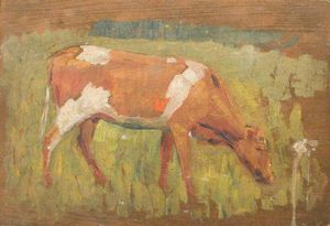 Alfred James Munnings - Study Of A Cow Grazing