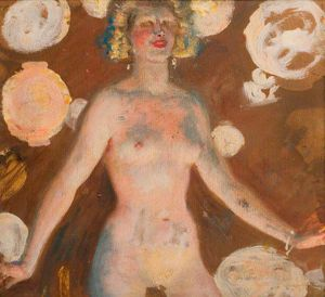 Alfred James Munnings - Study Of A Female Nude