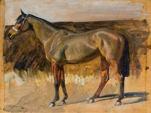Alfred James Munnings - Study Of A Hunter Mare