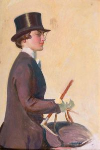 Alfred James Munnings - Study Of Lady Munnings For -our Mutual Friend The Horse-
