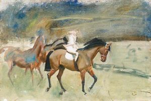 Alfred James Munnings - Study Of Racehorses