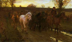 Alfred James Munnings - Travellers