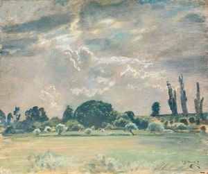Alfred James Munnings - Trees By A Field
