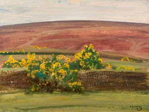 Alfred James Munnings - Wall And Gorse On Exmoor