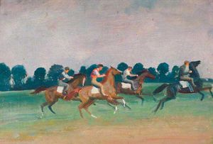 Alfred James Munnings - Warren Hill, Newmarket