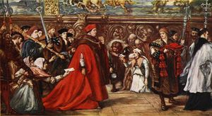 John Gilbert - Cardinal Wolsey On His Way To Westminster Hall,