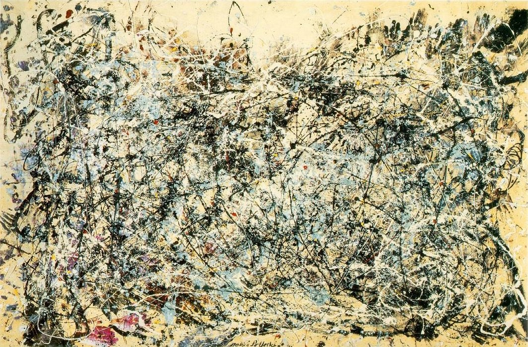 Number 1, Canvas by Jackson Pollock (1912-1956, United States)