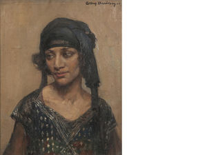 Allan Douglas Davidson - Portrait Of A Girl In Flapper Dress