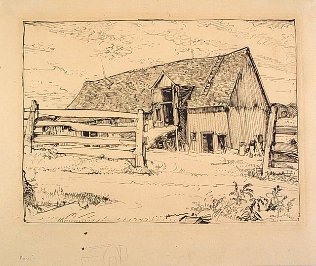 Barn, Île D`orléans by Arthur Lismer (1885-1969, United Kingdom) | Famous Paintings Reproductions | WahooArt.com