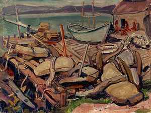Arthur Lismer - Docks At Ingonish