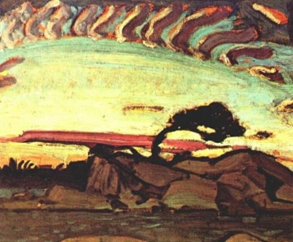 Evening Silhouette by Arthur Lismer (1885-1969, United Kingdom) | Famous Paintings Reproductions | WahooArt.com
