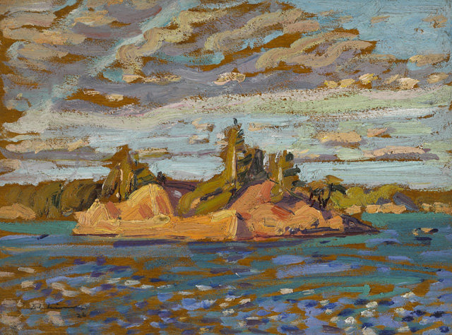 Island by Arthur Lismer (1885-1969, United Kingdom) | Museum Quality Reproductions | WahooArt.com