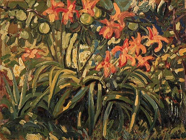 Lilies And Apples by Arthur Lismer (1885-1969, United Kingdom) |  | WahooArt.com