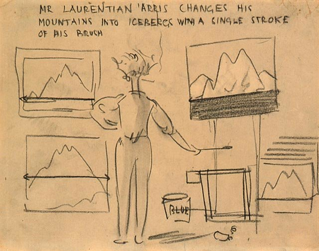 Mr. Laurentian `arris Changes His Mountains Into Icebergs With A Single Stroke Of His Brush by Arthur Lismer (1885-1969, United Kingdom) | Museum Quality Reproductions | WahooArt.com
