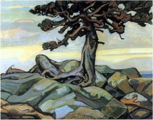 Arthur Lismer - Pine Tree And Rocks