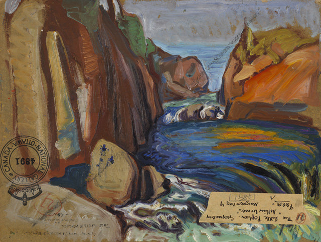 Rocks And Water by Arthur Lismer (1885-1969, United Kingdom) | Art Reproduction | WahooArt.com