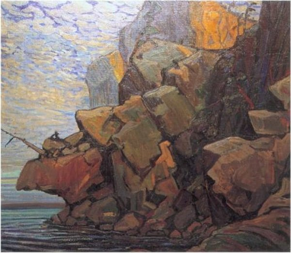 The Sheep`s Nose, Bon Echo by Arthur Lismer (1885-1969, United Kingdom) | Famous Paintings Reproductions | WahooArt.com