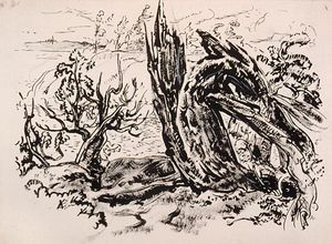 Arthur Lismer - Tree Stump