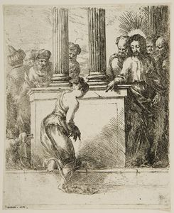 Bartolomeo Biscaino - Christ, And The Woman Taken In Adultery