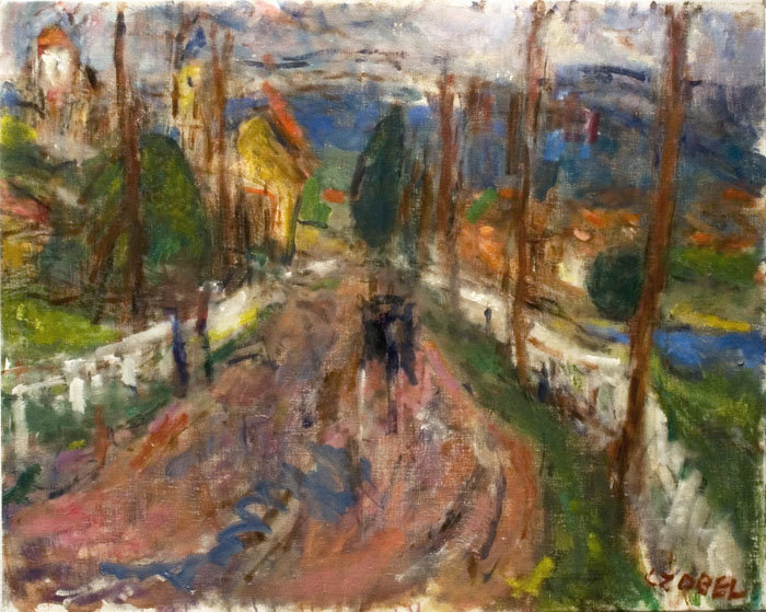 Road By The Danube by Bela (Adalbert) Czobel (1883-1976, Hungary)