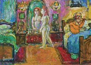 David Davidovich Burliuk - Bedroom Interior